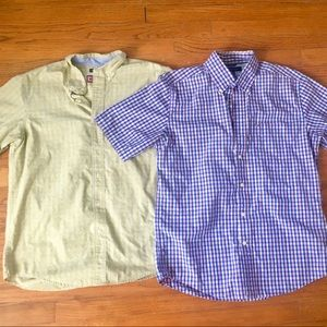 LIKE NEW Set of 2 Men's Short Sleeve Button Downs